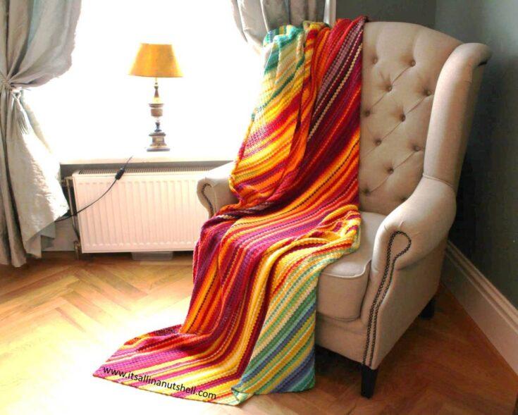 C2C Temperature Blanket – Free Pattern, Colorway and YarnAmounts
