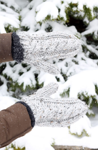 Cable Knit Mittens Pattern