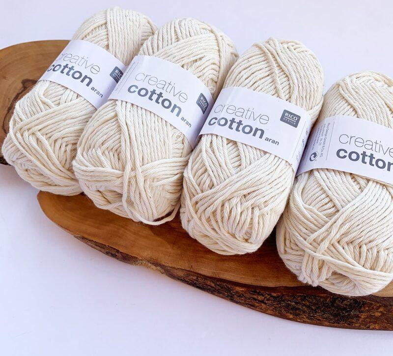 rico creative cotton aran in nature