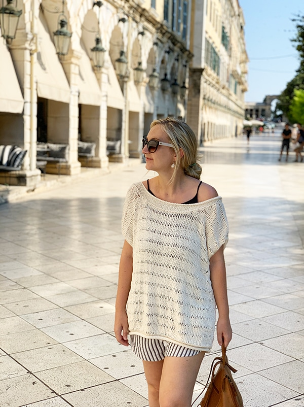 oversized knitted top