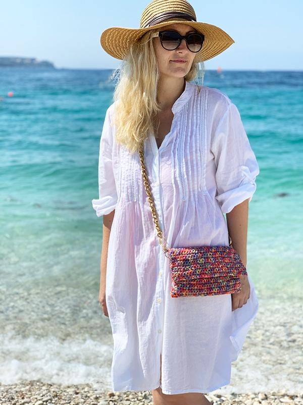 easy crochet crossbody bag with chain strap