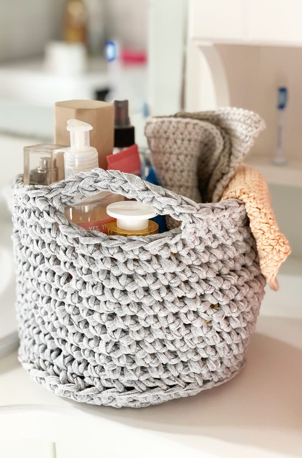 crochet bathroom basket pattern