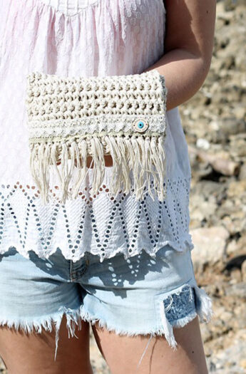 Crochet Fringe Clutch Pattern