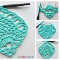 Pineapple Stitch Granny Square Free Crochet Pattern – Video