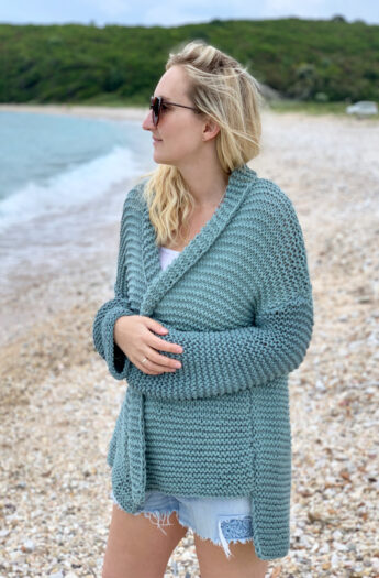 Cotton Comfort Easy Knit Cardigan Pattern