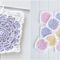 Flower Power Granny Square Crochet Pattern Free