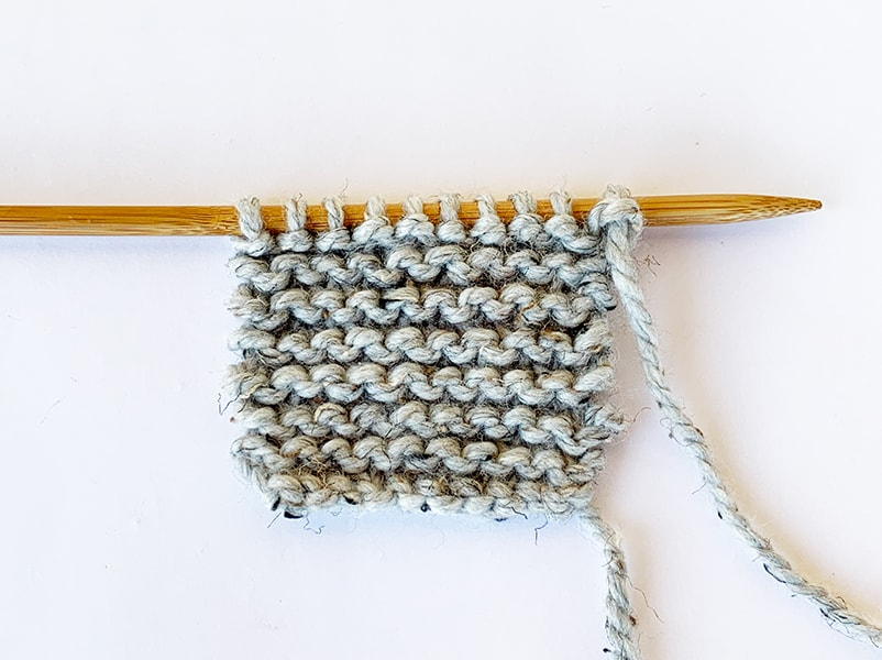 garter stitch knitting example