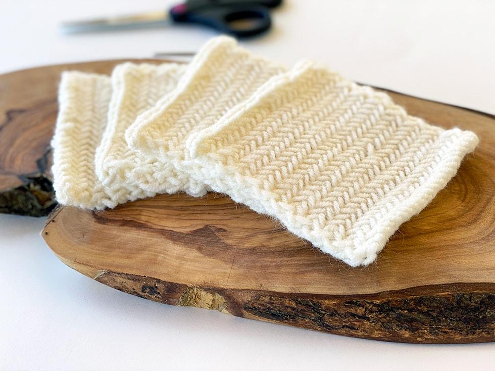 herringbone stitch sample