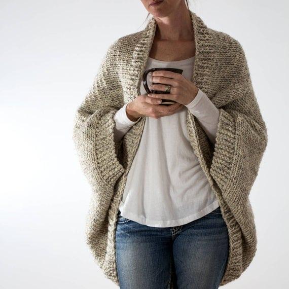 Oversized Scoop Sweater Knitting Pattern