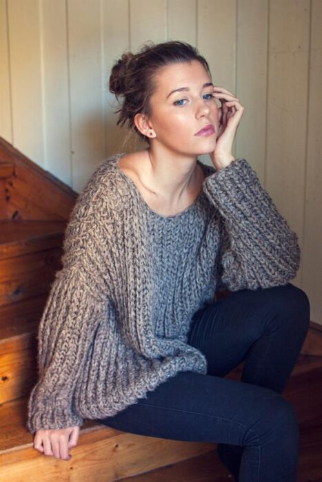 Ribbed Knit Sweater Pattern