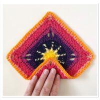 Granny Square Pouch Free Crochet Pattern