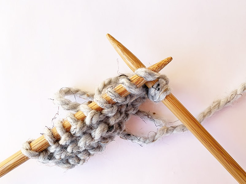 continue knitting your row for the kfb increase