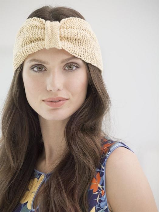 headband knit with fine weight yarn