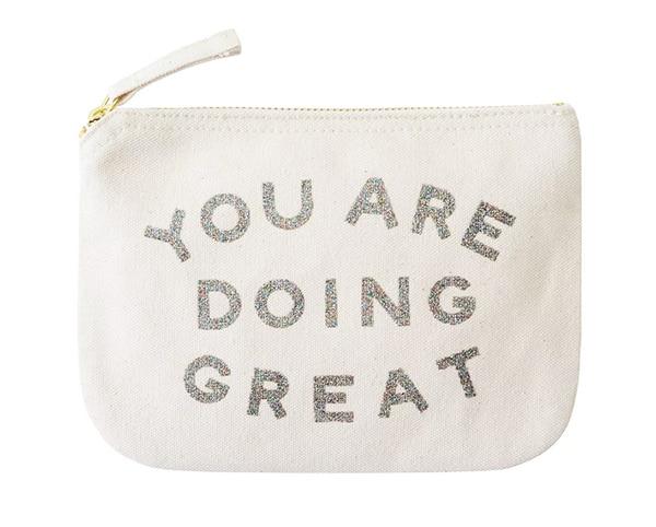 knitting essentials bag with a slogan