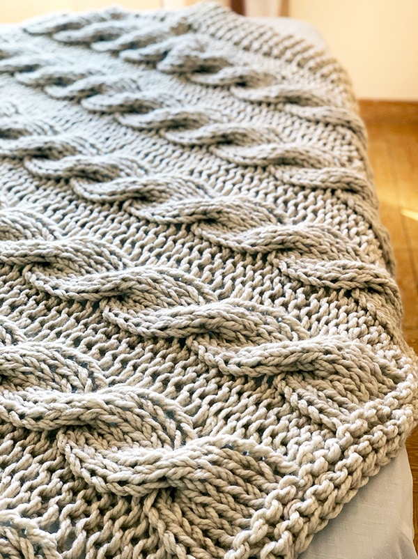 large knit blanket