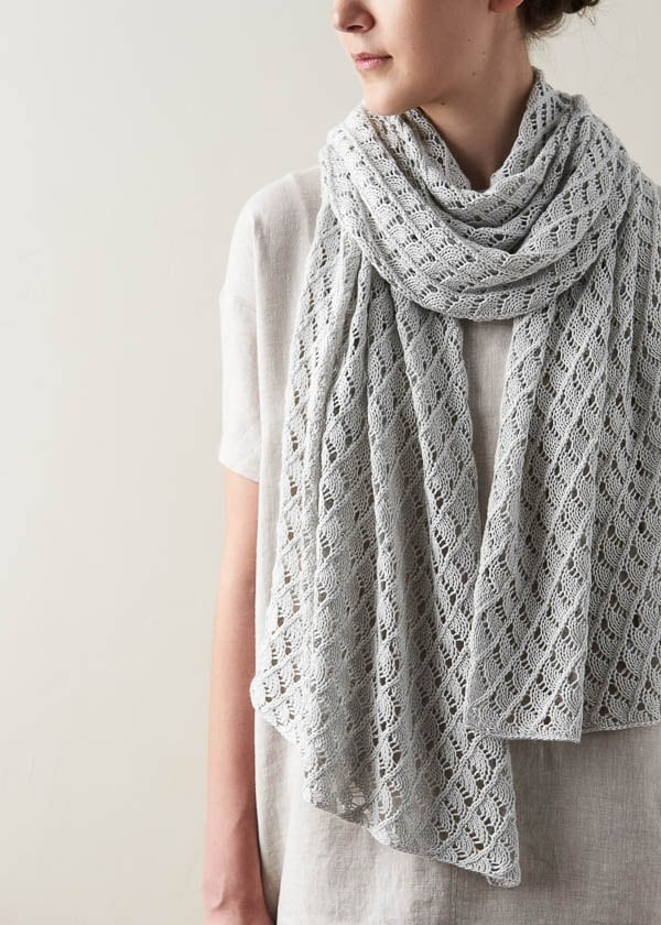 textured wrap knit with superfine weight yarn