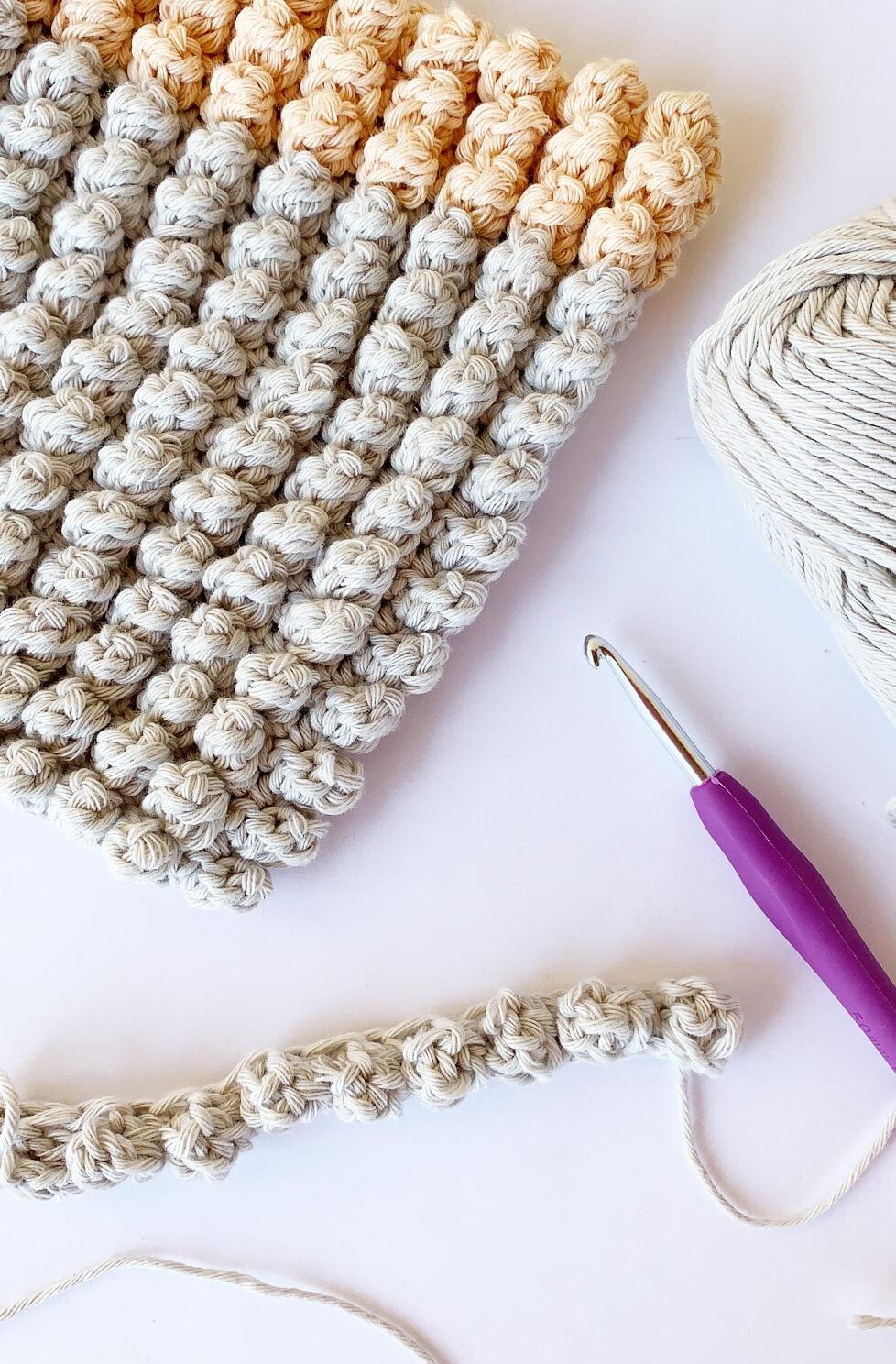 crochet popcorn stitch examples