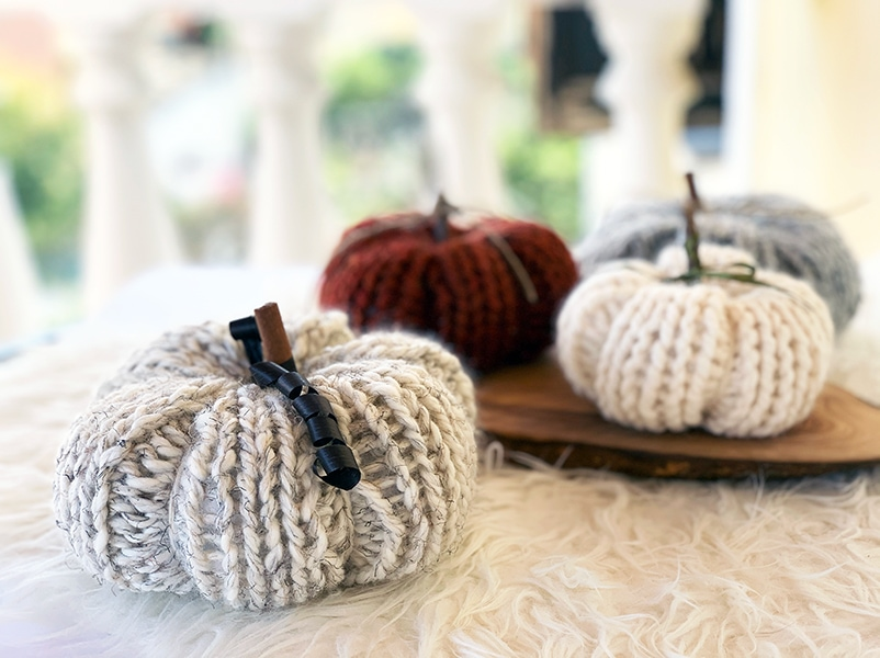 pumpkin knitting pattern straight needles