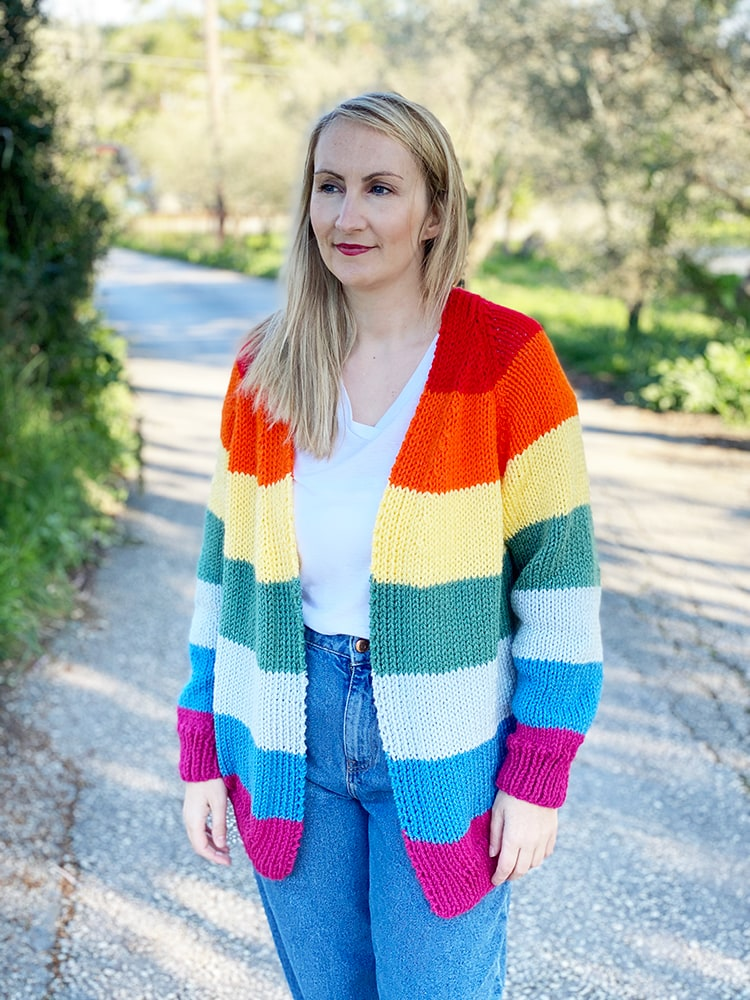 rainbow sweater knit