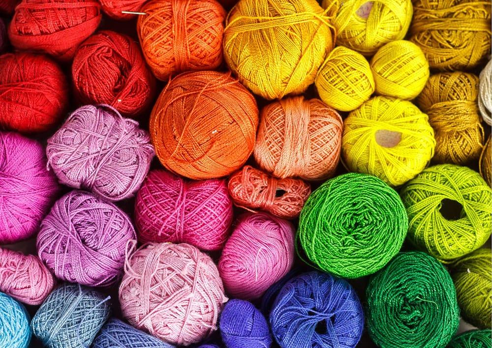 rainbow yarns