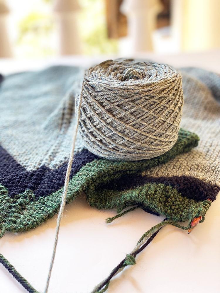 rent shawl on the needles