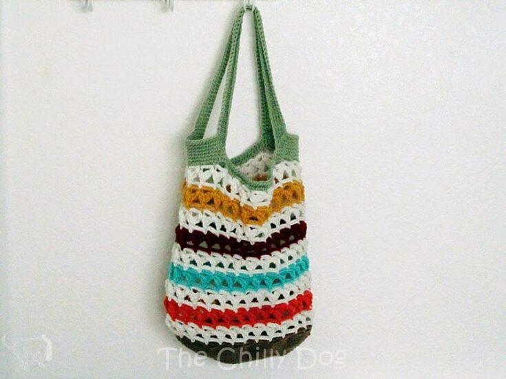 Crochet Pattern: Scrap Yarn Tote