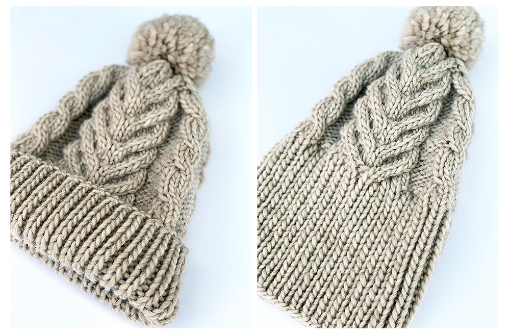 staghorn cable knit hat