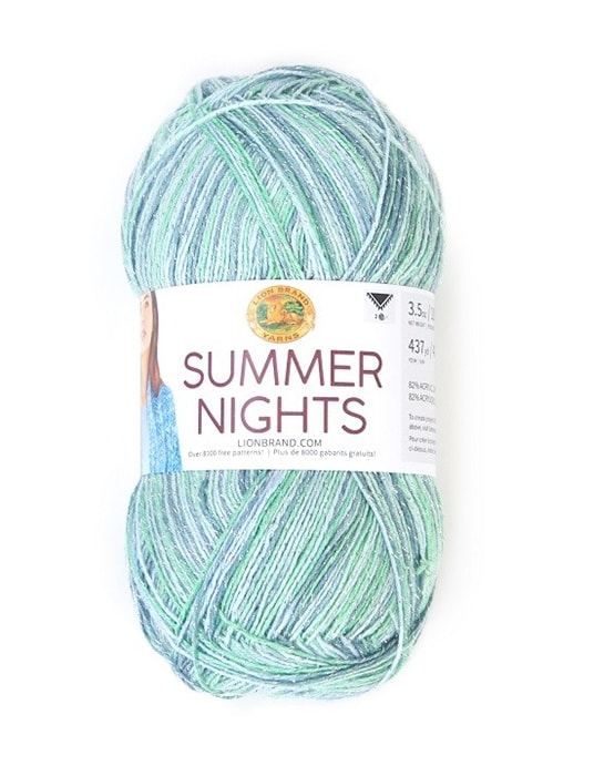 shawl yarn summer nights from Lion Brand