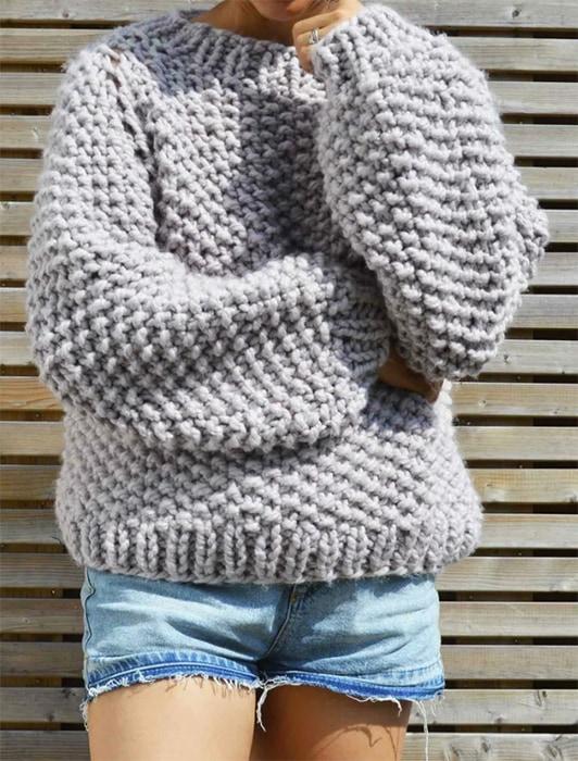 Seed Bubble Sweater Knitting pattern by KNITSAFARI