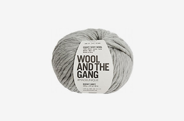 wool and the gang grey yarn