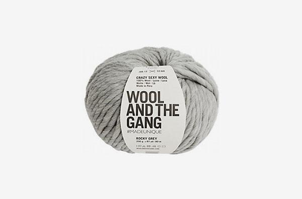 wool and the gang grey yarn