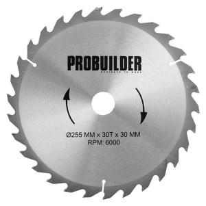 Saeketas Probuilder 255mm 30H puidule