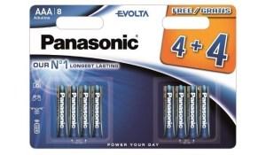 Patarei Panasonic Evolta LR03/AAA 4+4tk