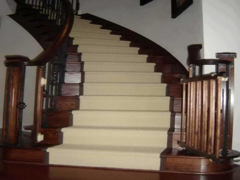 How To Install Carpet On Stairs Handyman Tips   Cutting Carpet For Stairs   Carpet Runner   Wood   Stair Nosing   Landing   Underlay