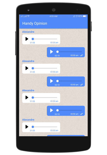 Whatsapp Like Chat Audio Message Layout XML for Android