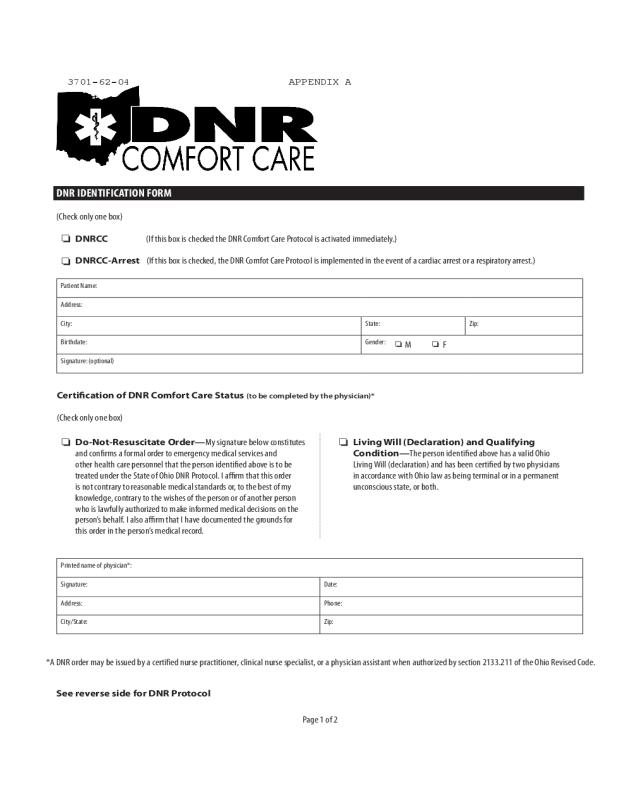 2020 Dnr Medical Form Fillable Printable Pdf Forms