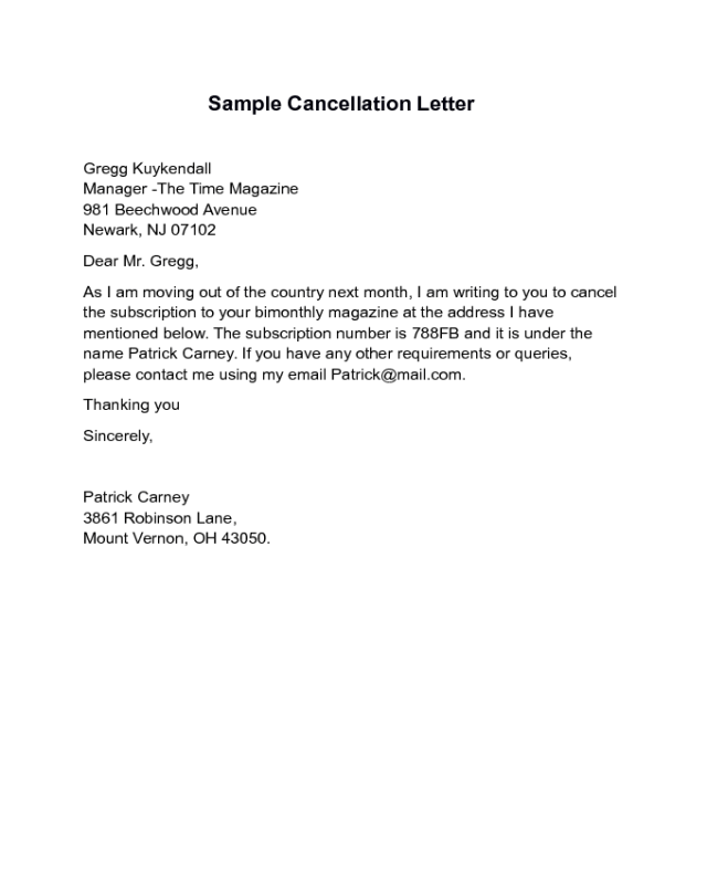 Format Template Letter Intent