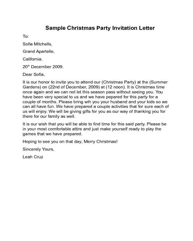 Enchanting party invitation letter sample mold invitation card sample of birthday invitation letter joselinohouse stopboris Gallery