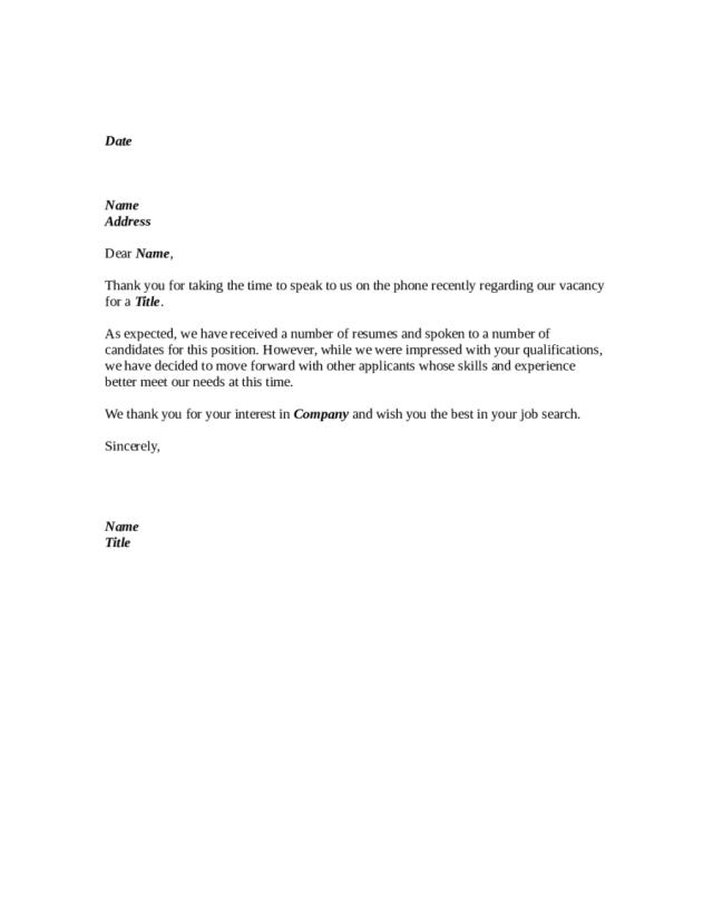 18 Job Rejection Letter - Fillable, Printable PDF & Forms  Handypdf