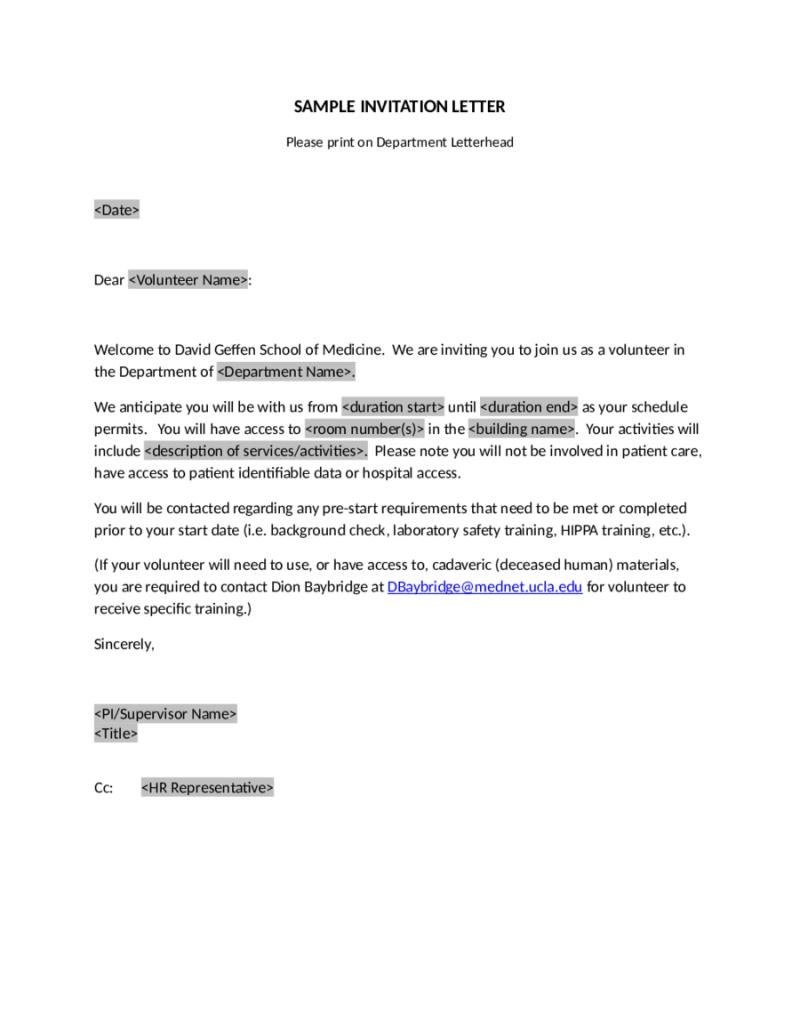 Training Invitation Letter For Visa | Invitationsjdi org