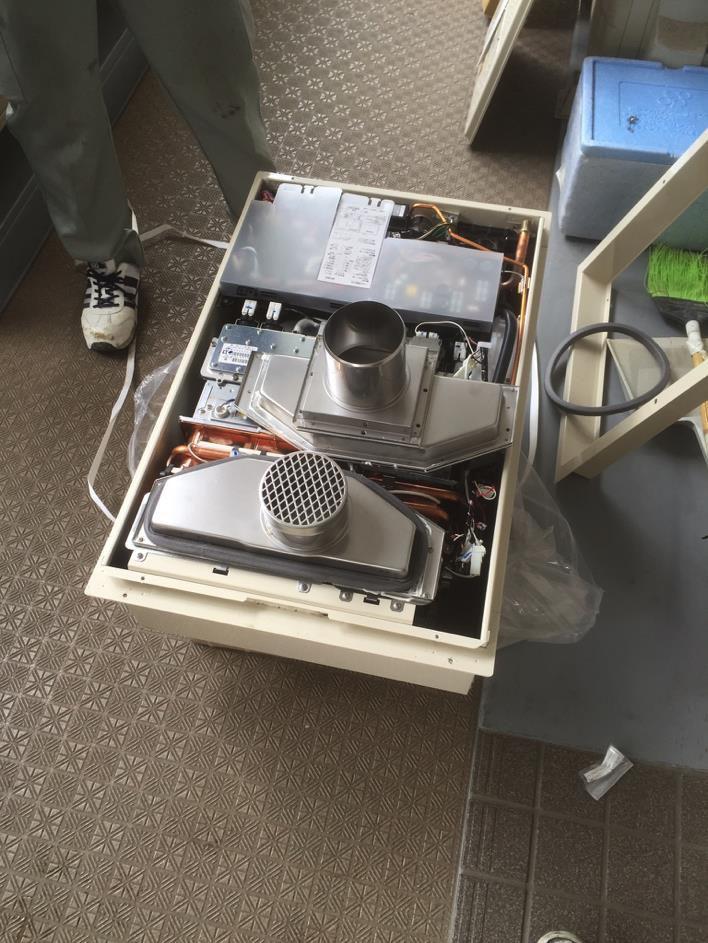 熱源機付給湯器工事
