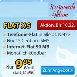 AllNet Flatrate Internet Flat ohne Laufzeit 9.95€ mtl