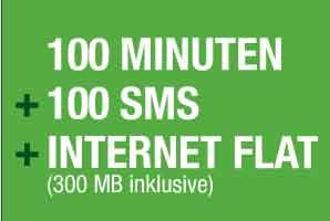 100 Min + 100 SMS + Datenflat D-Netz nur 7.95€ mtl
