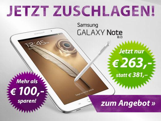 Samsung Note 8.0 N5110 16 GB nur 258€