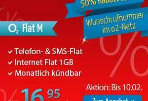 o2 VIP-Nummern zum 1/2 Preis + AllNet Flat nur 16.95€ mtl