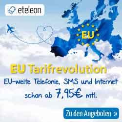 EU weite Telefonie, SMS und Internet ab 7.95€ mtl