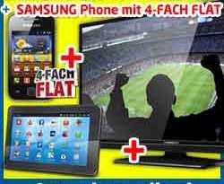 Samsung Galaxy Y + Tablet + 40 Zoll LED-TV 29.90€ mtl