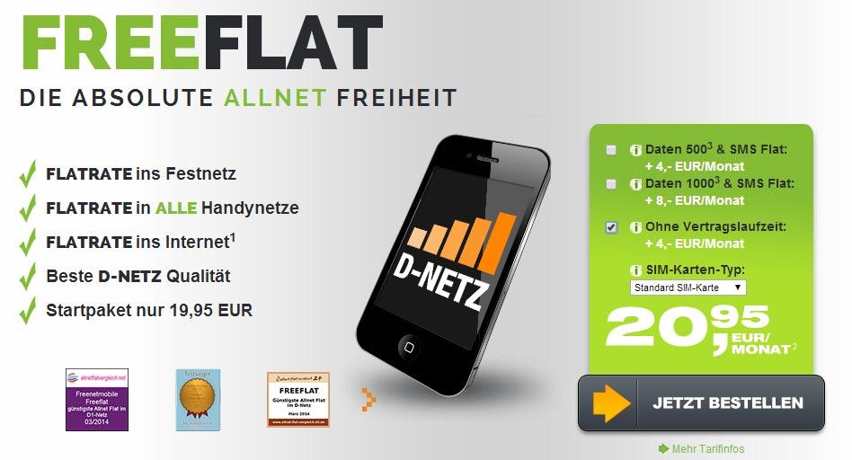 AllNet-Flat im D1-Netz ohne Laufzeit 20.95€ mtl