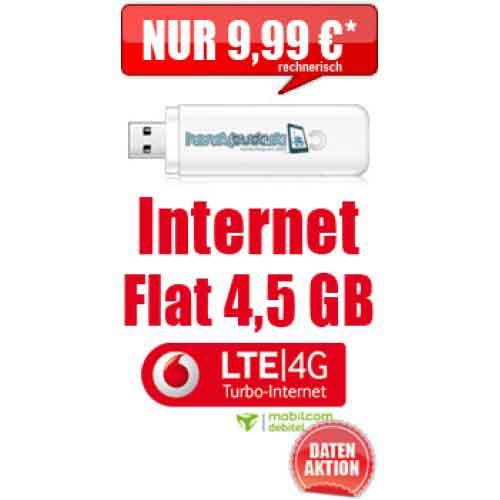 Internet Flatrate LTE 4500 9.99€ mtl