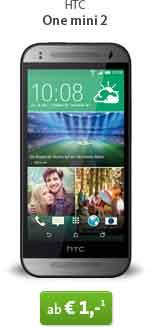 HTC One mini 2 + OTELO Allnet-Basic S Deluxe 19.99€ mtl